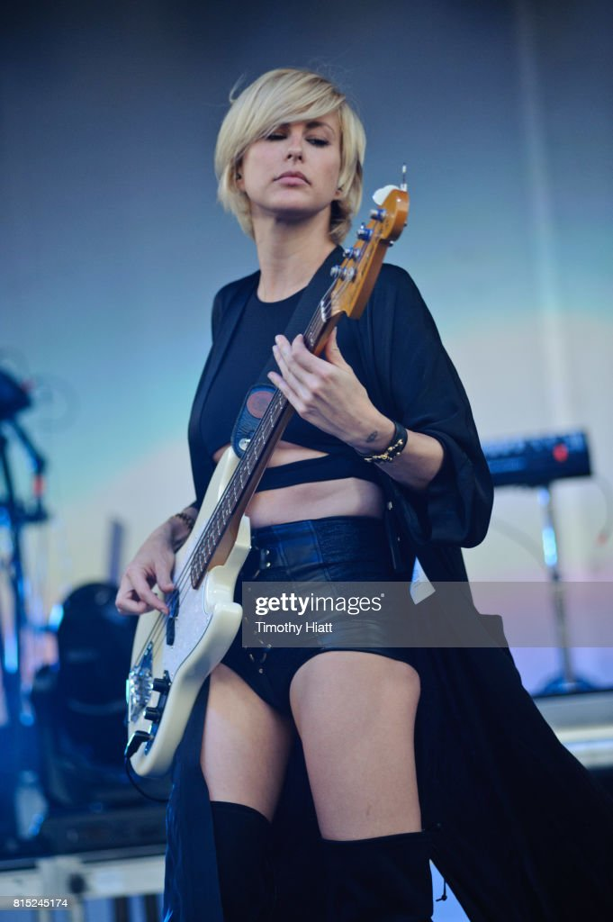 Sarah Barthel Of Phantogram Performs On Day Two Of The  Forecastle Festival On July