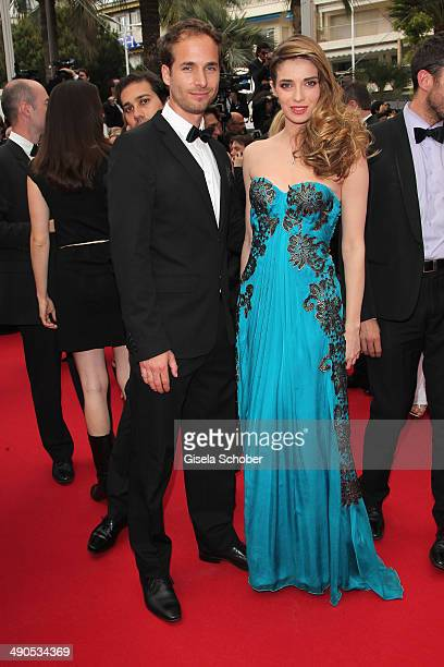 Sarah Barzyk and a guest attend the Opening ceremony and the 'Grace of Monaco' Premiere during the 67th Annual Cannes Film Festival on May 14 2014 in...