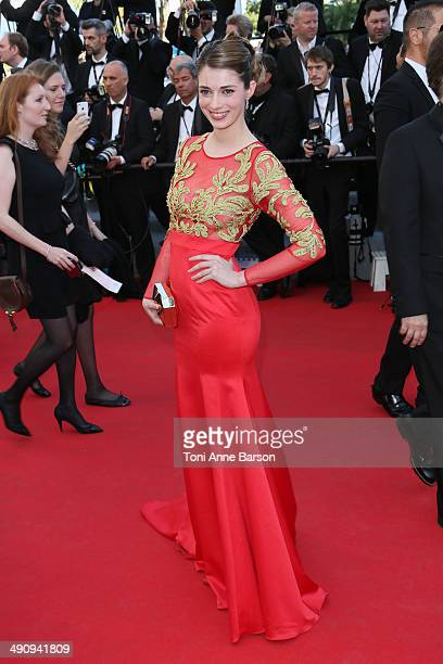 Sarah Barzyk attends the 'Mr Turner' Premiere at the 67th Annual Cannes Film Festival on May 15 2014 in Cannes France
