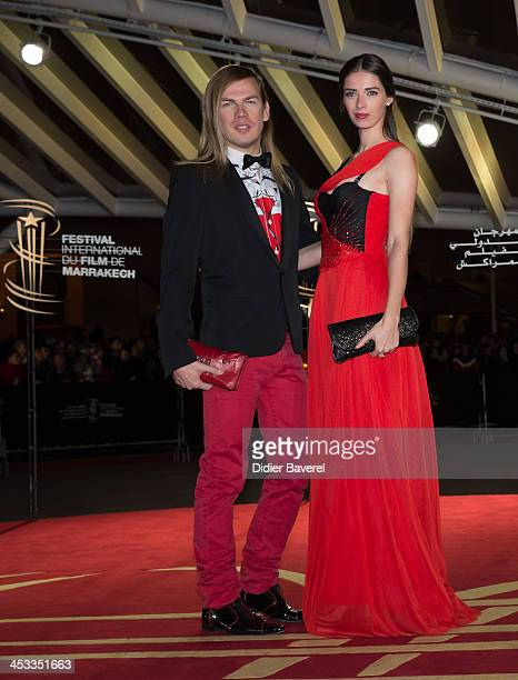 Sarah Barzyk Aubrey and Christophe Guillarme attend the 'Sara' premiere at the 13th Marrakech International Film Festival on December 3, 2013 in...