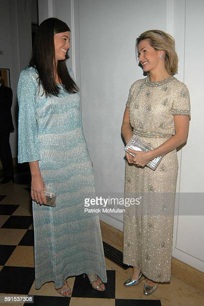 Sarah Basile and Eliza Osborne Schmidt attend Neue Gallery Winter Gala, Sponsored by Gucci at Neue Gallery New York on December 8, 2005 in New York...