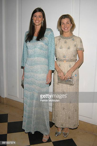 Sarah Basile and Eliza Osborne Schmidt attend Neue Gallery Winter Gala Sponsored by Gucci at Neue Gallery New York on December 8 2005 in New York City
