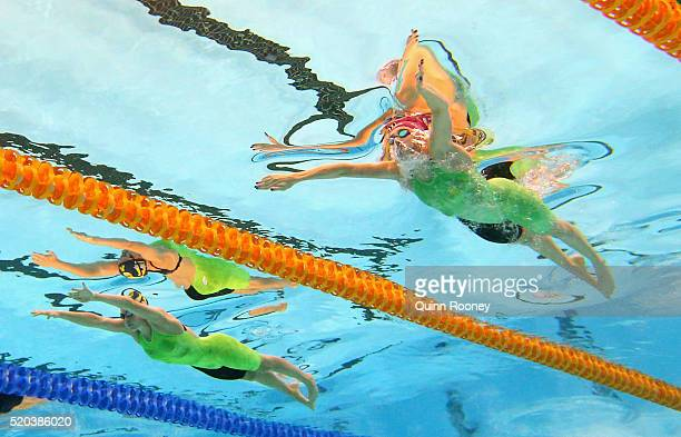 Sarah Beale and Taylor McKeown of Australia competes in the Women's 200 Metre Breaststroke during day four of the Australian Swimming Championships...