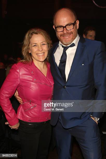 Sarah Beeny and Alex Proud attend the grand opening of Proud Embankment on April 12 2018 in London England