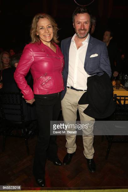Sarah Beeny and Graham Swift attend the grand opening of Proud Embankment on April 12 2018 in London England