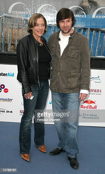 Sarah Beeny and Guest at the IceSpace in London United Kingdom