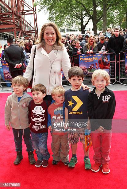 Sarah Beeny and guests attend the World Premiere of Postman Pat at Odeon West End on May 11 2014 in London England