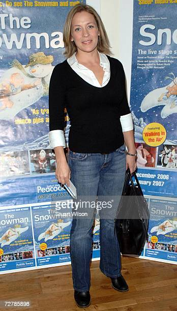 Sarah Beeny attends the Snowman VIP Christmas party at the Peacock Theatre on December 09 2006 in London England