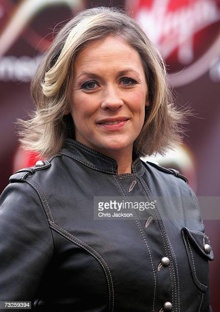 Sarah Beeny poses for a photograph at the launch of Virgin Media at Convent Garden Market on February 8 2007 in London England Branson will spend the...