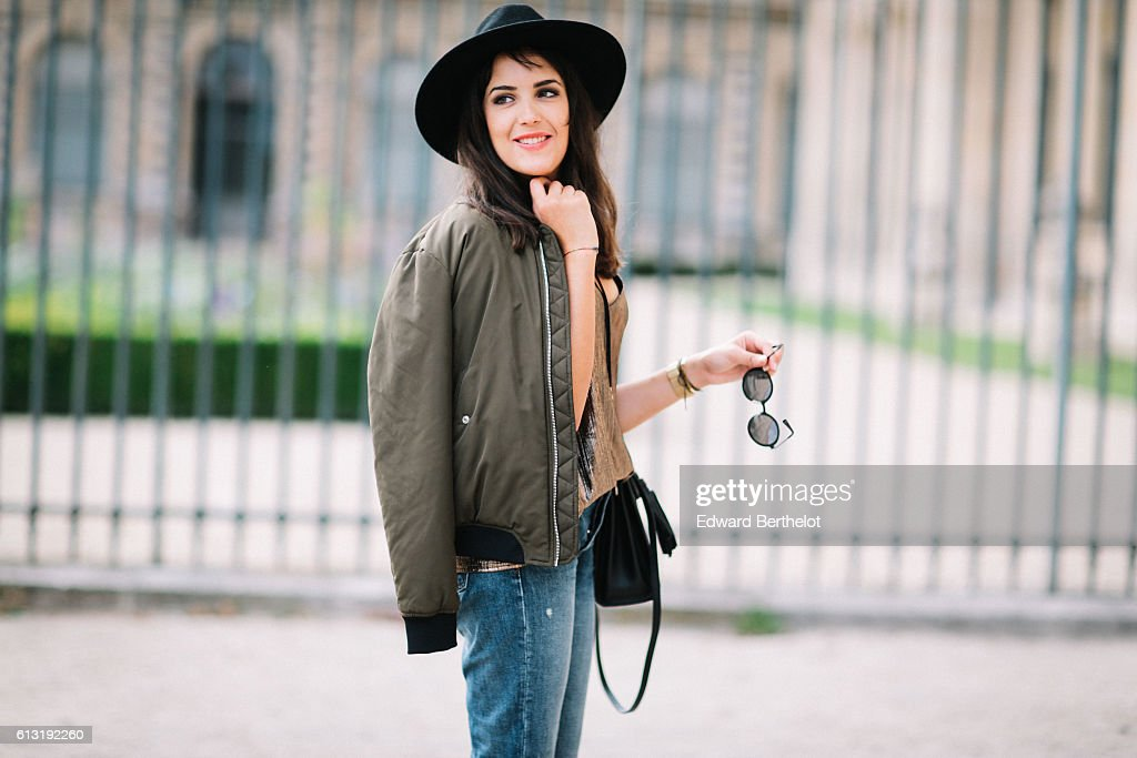 33207357 Sarah Benziane , is wearing a Zara green bomber jacket, a Primark ...
