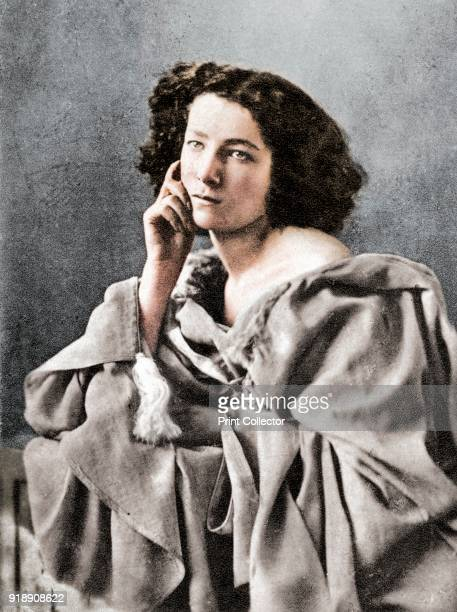 Sarah Bernhardt French actress 1869 Sarah Bernhardt was probably the most famous stage actress of the 19th century A photograph from Album de...