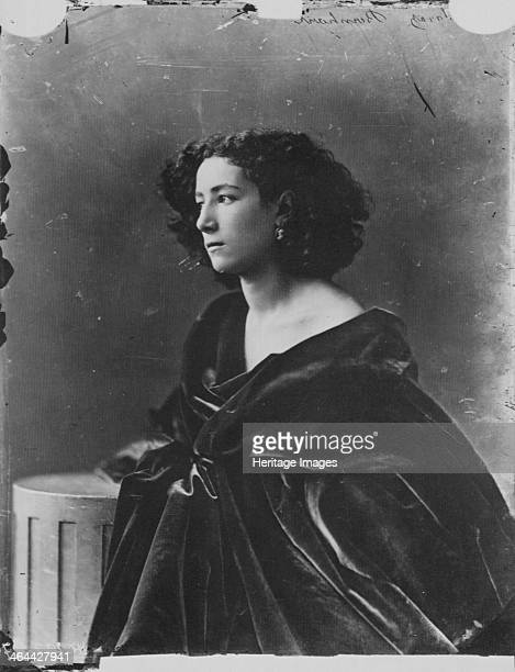 Sarah Bernhardt French actress c1865 Sarah Bernhardt was probably the most famous stage actress of the 19th century From a private collection
