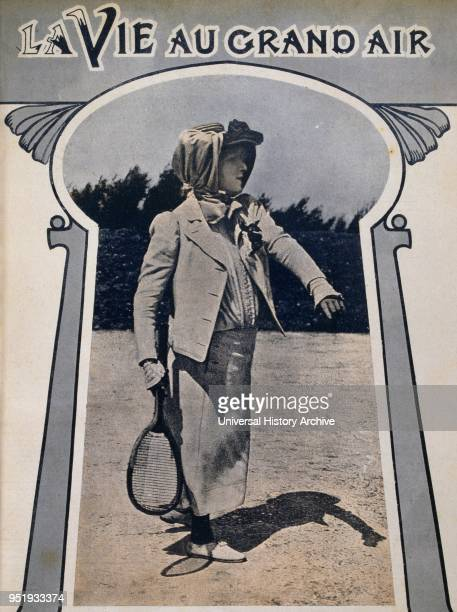 Sarah Bernhardt French stage actress Photograph showing her playing tennis in 1905 In 1915 she had her leg amputated She starred in some of the most...