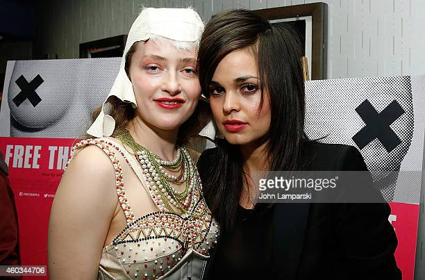 Sarah Beth Stroller and Director Lina Esco attends 'Free The Nipple' New York Premiere at IFC Center on December 11 2014 in New York City