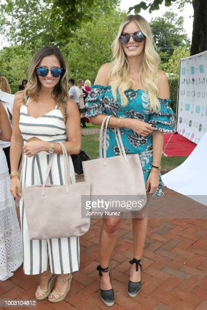 Sarah Billstein and Lauren Wirkus attend The Inaugural Hamptons Interactive Influencer Brunch Hosted By East End Taste Produced By Ticket2Events at...