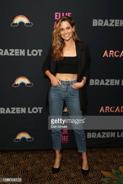Sarah Bishop attends the Sydney Premiere of Ellie And Abbie on November 17 2020 in Sydney Australia