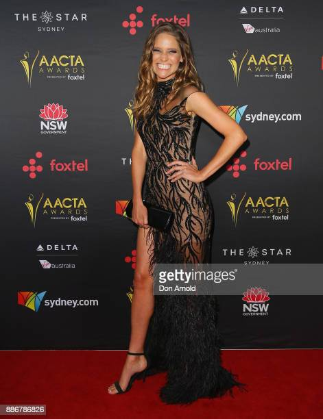 Sarah Bishop poses during the 7th AACTA Awards at The Star on December 6 2017 in Sydney Australia