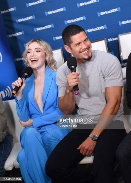 Sarah Bolger and J D Pardo attend SiriusXM's Entertainment Weekly Radio Broadcasts Live From Comic Con in San Diego at Hard Rock Hotel San Diego on...