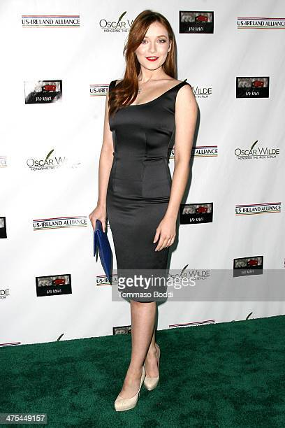 Sarah Bolger attends the USIreland alliance preAcademy Awards event held at Bad Robot on February 27 2014 in Santa Monica California