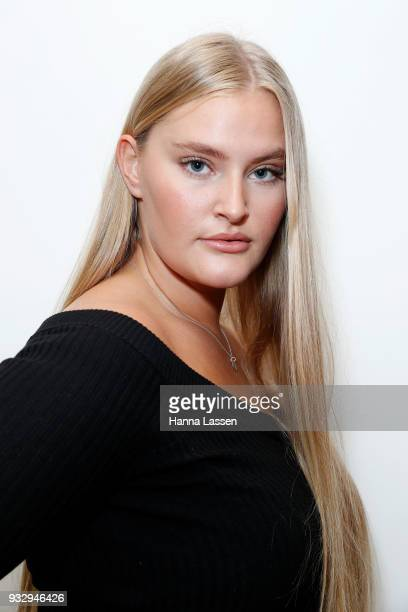 Sarah Bolt poses ahead of Cosmo Curve Casting with Robyn Lawley on March 17 2018 in Sydney Australia