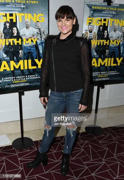 Sarah Booth attends Fighting With My Family Los Angeles Tastemaker Screening at The London Hotel on February 20 2019 in West Hollywood California