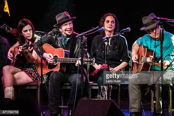 Sarah Borges Dave Alvin Christie McWilson and David Olney are performing during the Dave Alvin's ' West of the West ' train tour at the Soiled Dove...