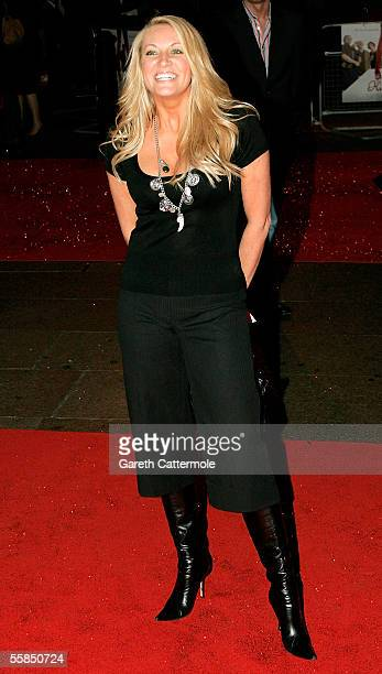 Sarah Bosnich arrives at the world gala film premiere of 'Kinky Boots' at Vue West End on October 4 2005 in London England