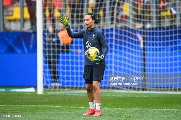 Sarah BOUHADDI of France before the Tournoi de France International Women's soccer match between France and Canada on March 4 2020 in Calais France