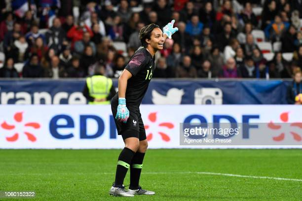 Sarah Bouhaddi of France during the International Women match between France and Brazil at Allianz Riviera Stadium on November 10 2018 in Nice France