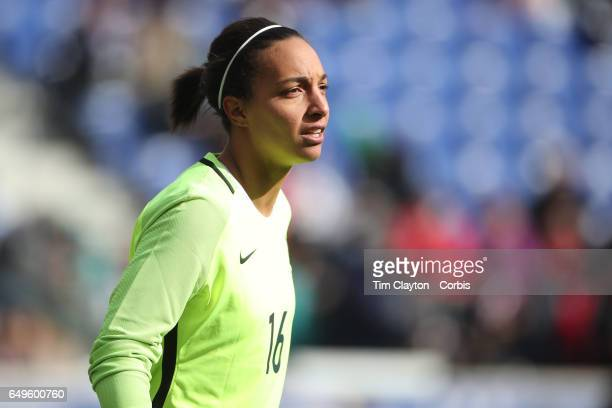 Sarah Bouhaddi of France in action during the France Vs Germany SheBelieves Cup International match at Red Bull Arena on March 4, 2017 in Harrison,...