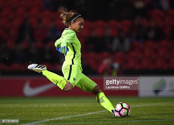Sarah Bouhaddi of France in action during the International Friendly between England and France at Keepmoat Stadium on October 21 2016 in Doncaster...