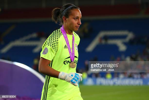 Sarah Bouhaddi of Olympique Lyonnais during the UEFA Women's Champions League Final match between Lyon and Paris Saint Germain at Cardiff City...