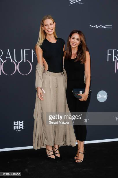 Sarah Brandner and Mandy Capristo attend Frauen 100 at Hotel De Rome on July 29, 2021 in Berlin, Germany.