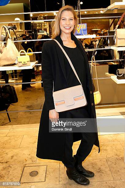 Sarah Brandner attends the Meet Greet with Designer Lili Radu at Ludwig Beck on March 15 2016 in Munich Germany