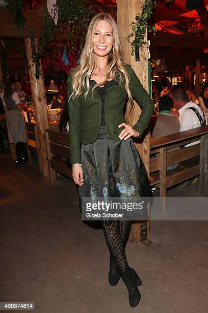 Sarah Brandner during the Oktoberfest 2015 at Kaeferschaenke at Theresienwiese on September 27 2015 in Munich Germany