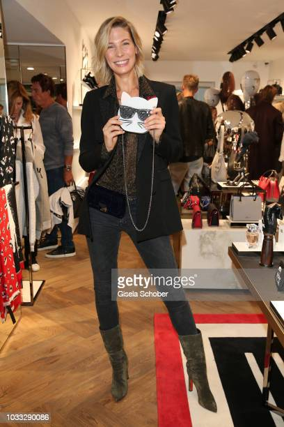 Sarah Brandner during the reopening of the Karl Lagerfeld store on September 14 2018 in Munich Germany