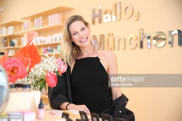 Sarah Brandner during the Zalando Beauty Pop-Up Event on May 9, 2019 in Munich, Germany.
