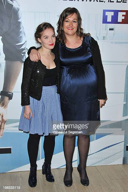 Sarah Brannens and Anne Girouard attend 'No Limit' a Europacorp And TF1 Series Launch at UGC George V on November 13 2012 in Paris France