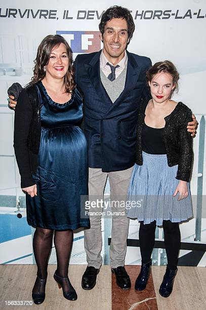 Sarah Brannens Vincent Elbaz and Anne Girouard attend the premiere of 'No Limit' a Europacorp And TF1 Series Launch at UGC George V on November 13...