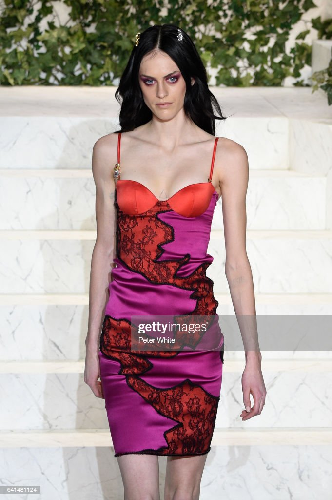 Sarah Brannon walks the runway at La Perla fashion show Fall/Winter 2017-2018 Ready To Wear Show at SIR Stage 37 on February 9, 2017 in New York City.