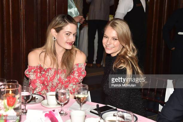 Sarah Bray and Danielle Lauder attend Symrise's Achim Daub ReVive's Elena Drell Szyfer honored at BEYOND BEAUTY Dinner 2018 Special Speaker Actor and...