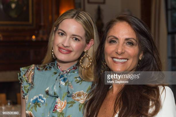 Sarah Bray and Gotham Magazine Publisher Lynn Scotti attend the Gotham Magazine VIP Dinner with Cover Star Taylor Schilling at The Lambs Club on...