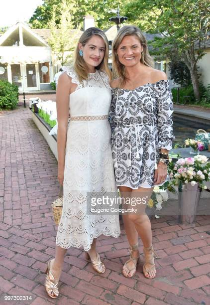 Sarah Bray and Lizzi Bickford attend the Modern Luxury Sam Edelman Summer Fashion Event on July 12 2018 in Southampton New York