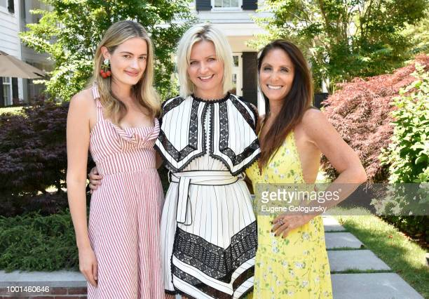 Sarah Bray Anetta Nowosielska and Lynn Scotti attend the Hamptons Magazine London Jewelers Host A Luxury Shopping Afternoon at Topping Rose House on...