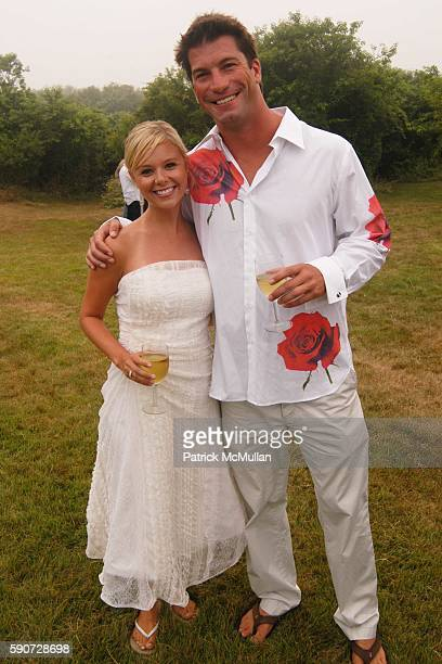 Sarah Brice and Charlie O'Connell attend Junko Yoshioka Presents Her Evening Wear Collection at Peter and Nejma Beard Residence on July 16 2005 in...