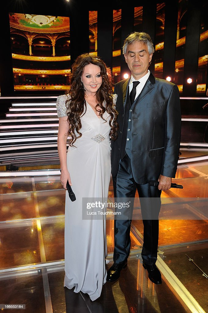 Andrea Bocelli And Sarah Brightman Photocall