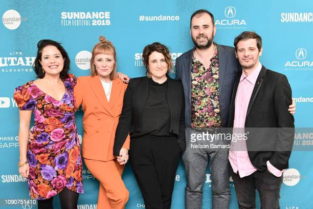 Sarah Brocklehurst Emma Jane Unsworth Sophie Hyde and Cormac Fox attend the Animals Premiere during the 2019 Sundance Film Festival at Eccles Center...
