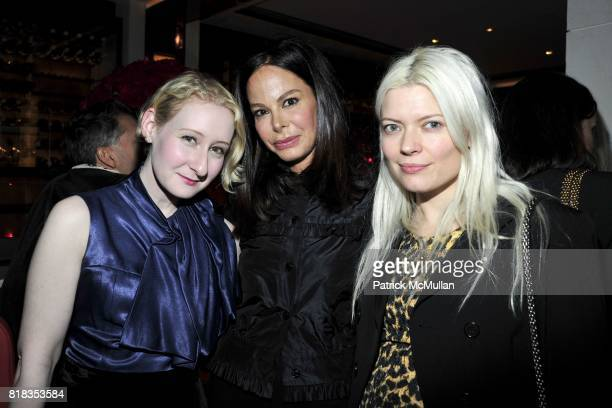 Sarah Brown Allison Sarofim and Kate Young attend CHANEL DINNER IN HONOR OF VANESSA PARADIS FOR ROUGE COCO at the Mark Hotel on February 9 2010 in...