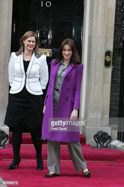 Sarah Brown and Carla BruniSarkozy meet at 10 Downing Street on the second day of the French President's state visit to Great Britain on March 27...