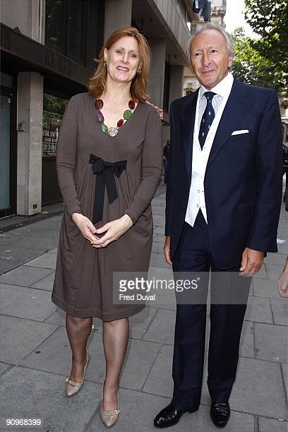 Sarah Brown and Harold Tillman sighted at London Fashion Week on September 19 2009 in London England